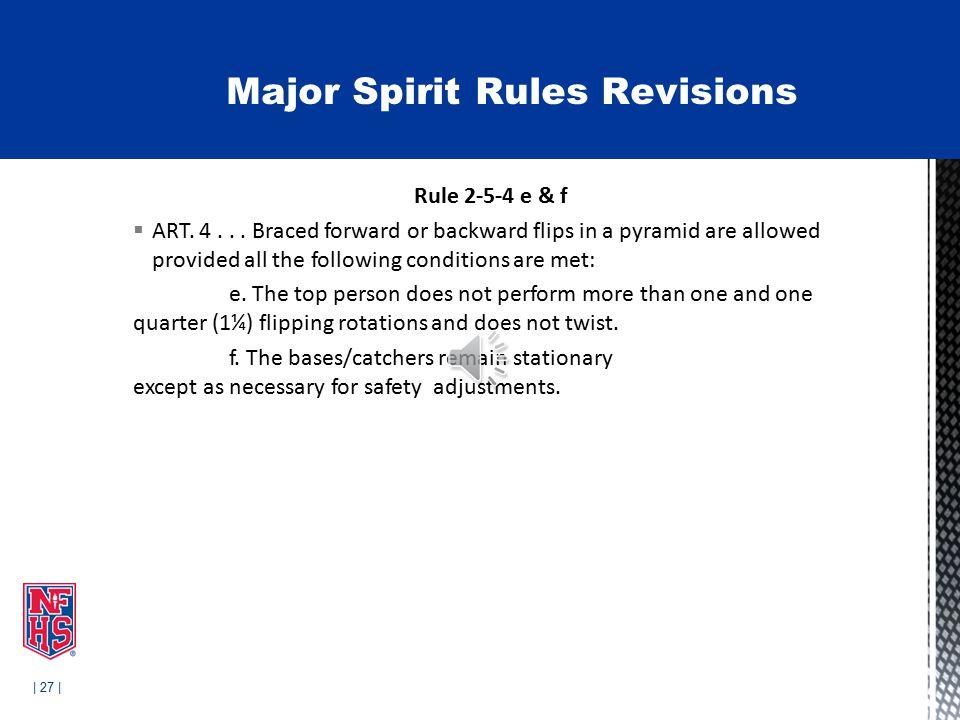 | 27 | Rule 2-5-4 e & f  ART. 4...