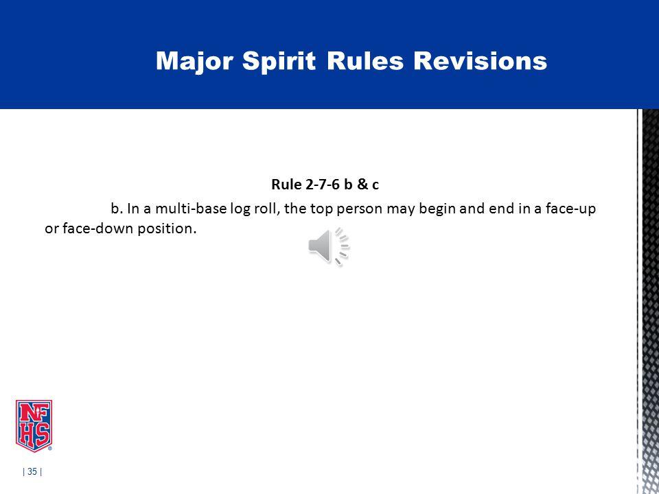 | 35 | Rule 2-7-6 b & c b.