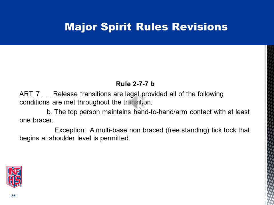 | 36 | Rule 2-7-7 b ART. 7...