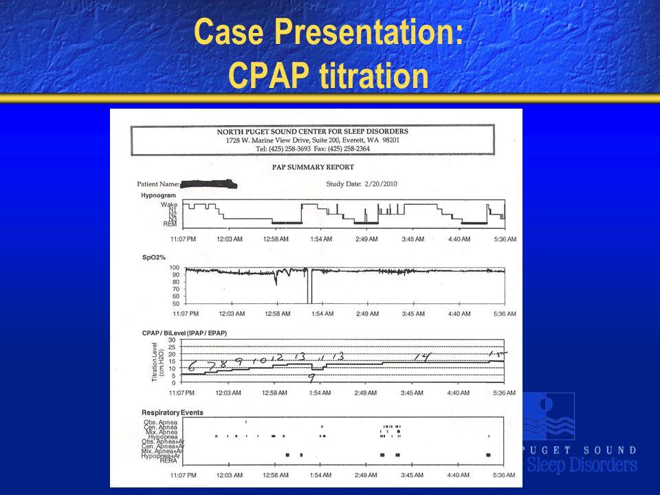 Case Presentation: CPAP titration