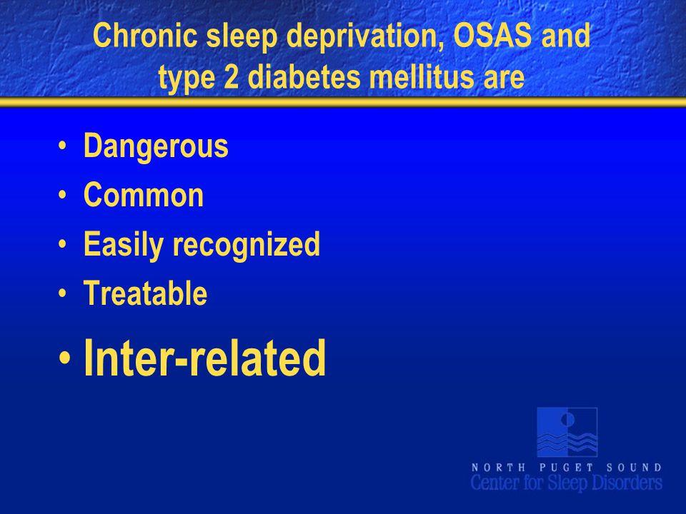 Chronic sleep deprivation, OSAS and type 2 diabetes mellitus are Dangerous Common Easily recognized Treatable Inter-related