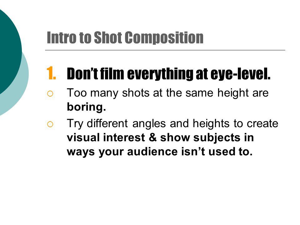 Intro to Video Cameras A few simple techniques can set a professional looking video apart from a bad home movie.