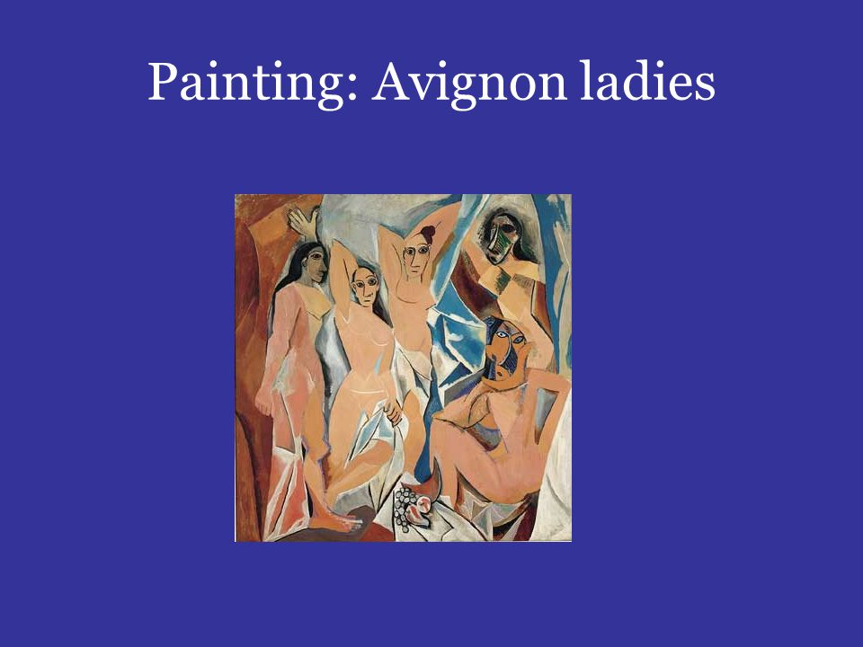 Painting: Avignon ladies