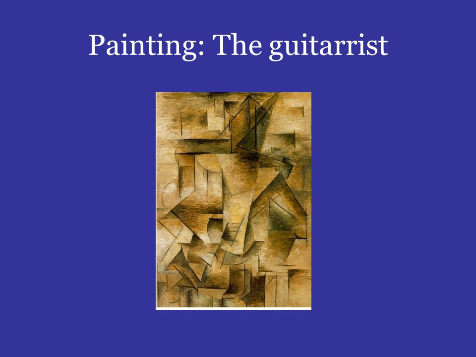 Painting: The guitarrist