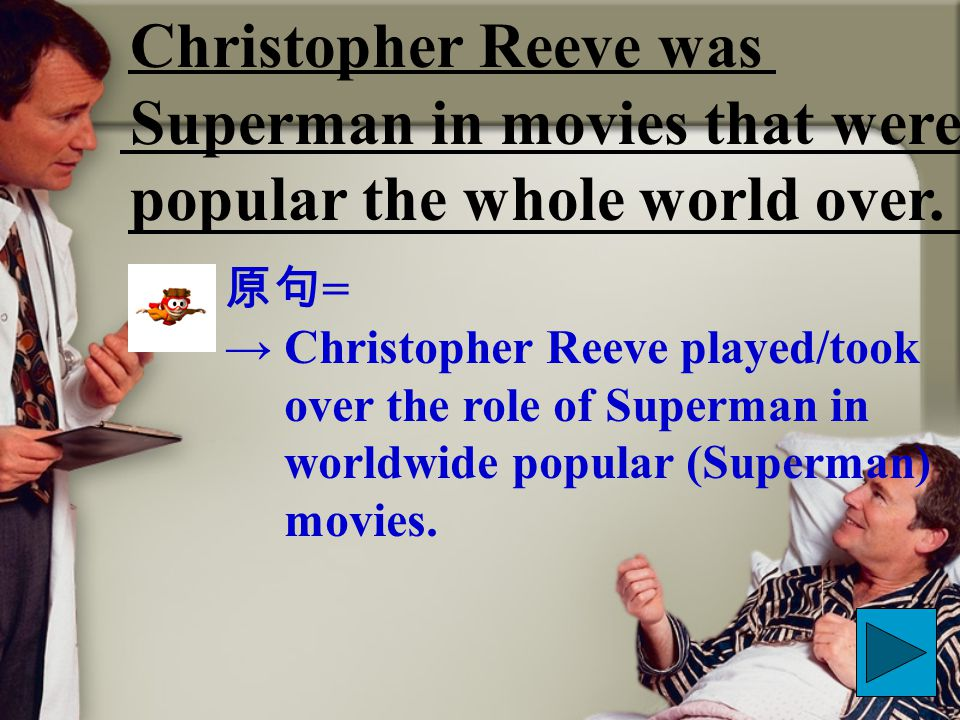 Christopher Reeve was Superman in movies that were popular the whole world over.