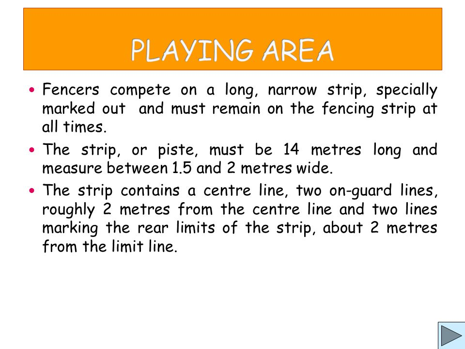 Politeness in fencing is very important.