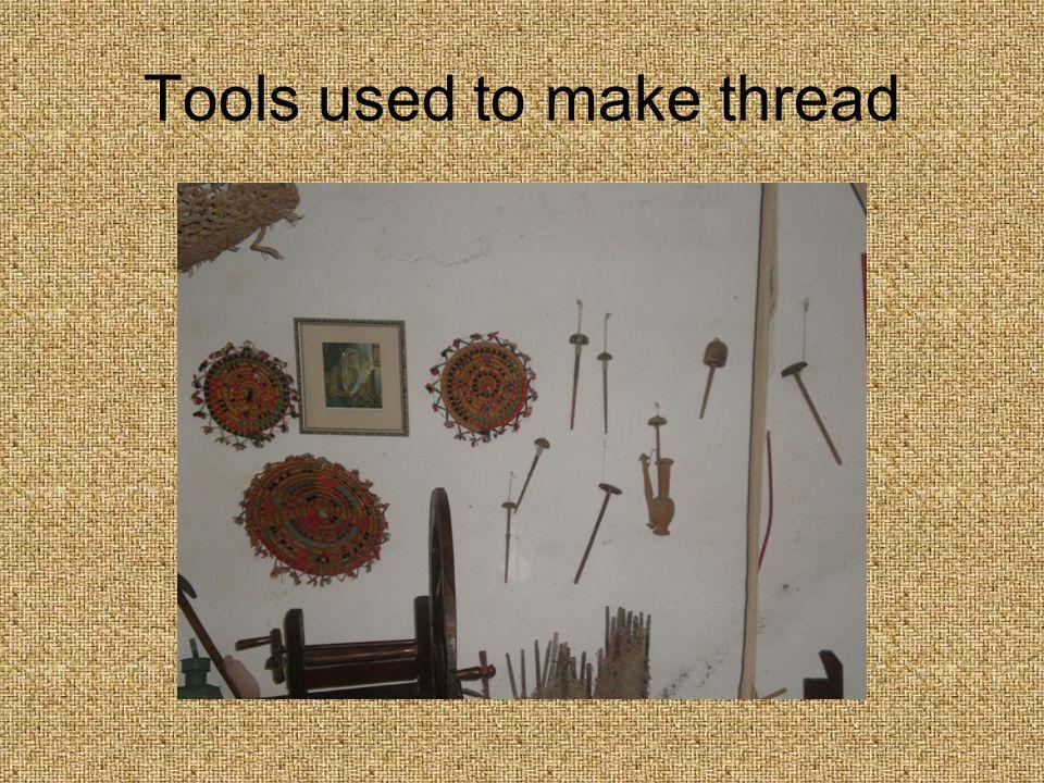 Tools used to make thread