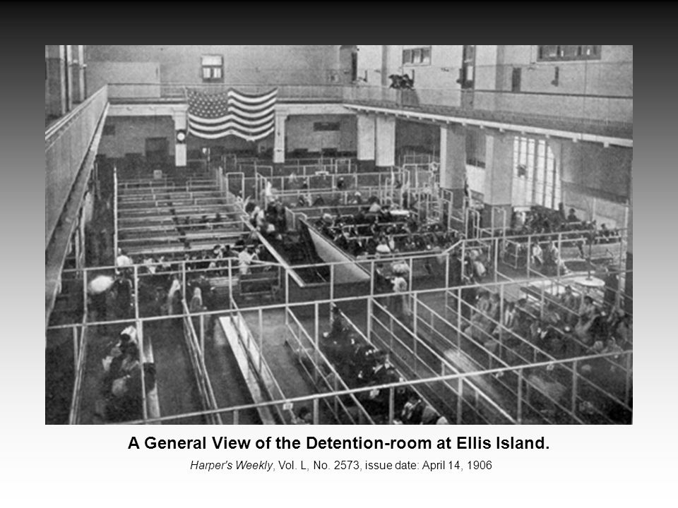 A General View of the Detention-room at Ellis Island.