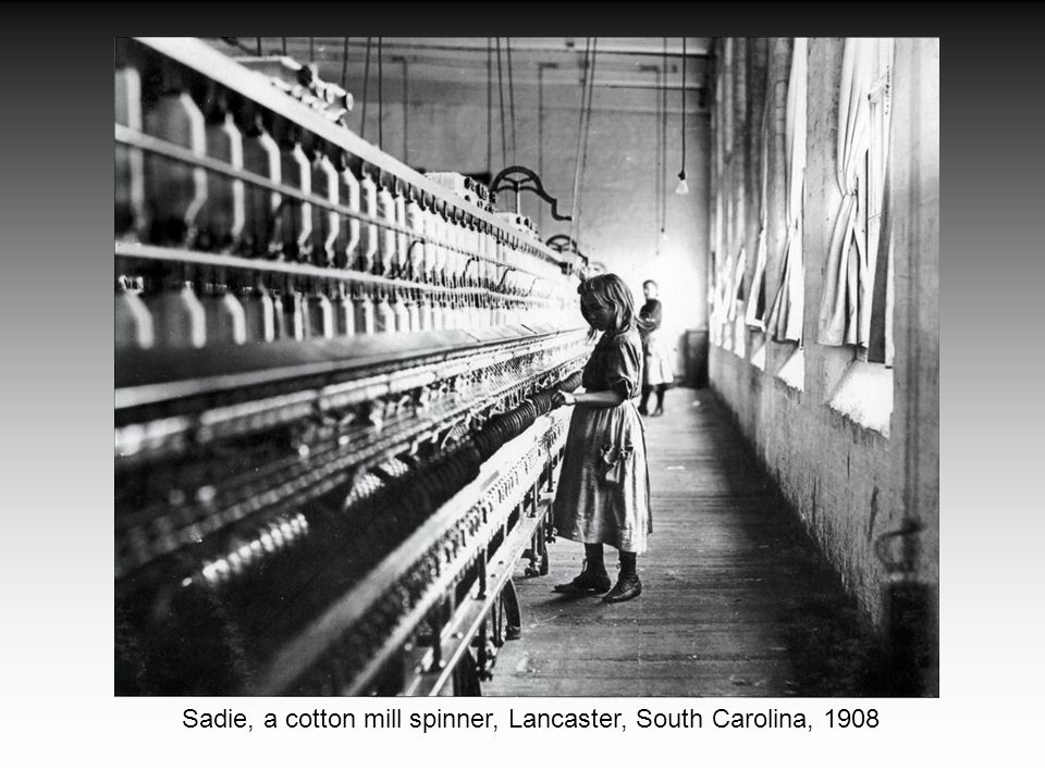 Sadie, a cotton mill spinner, Lancaster, South Carolina, 1908