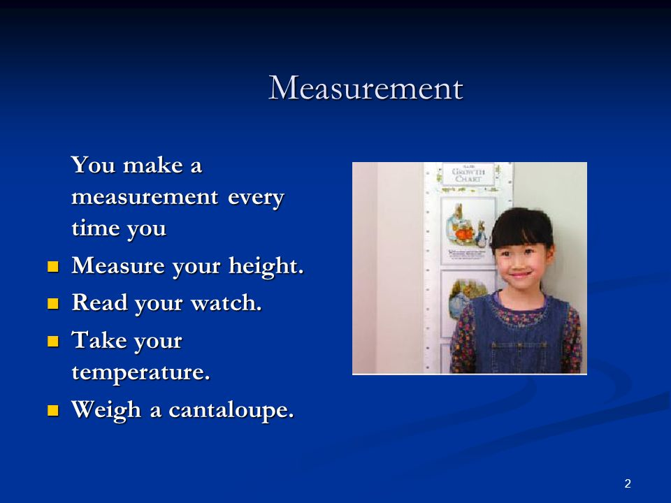 3 Measurement in Science Measurement in Science In science and allied health we  Measure quantities.