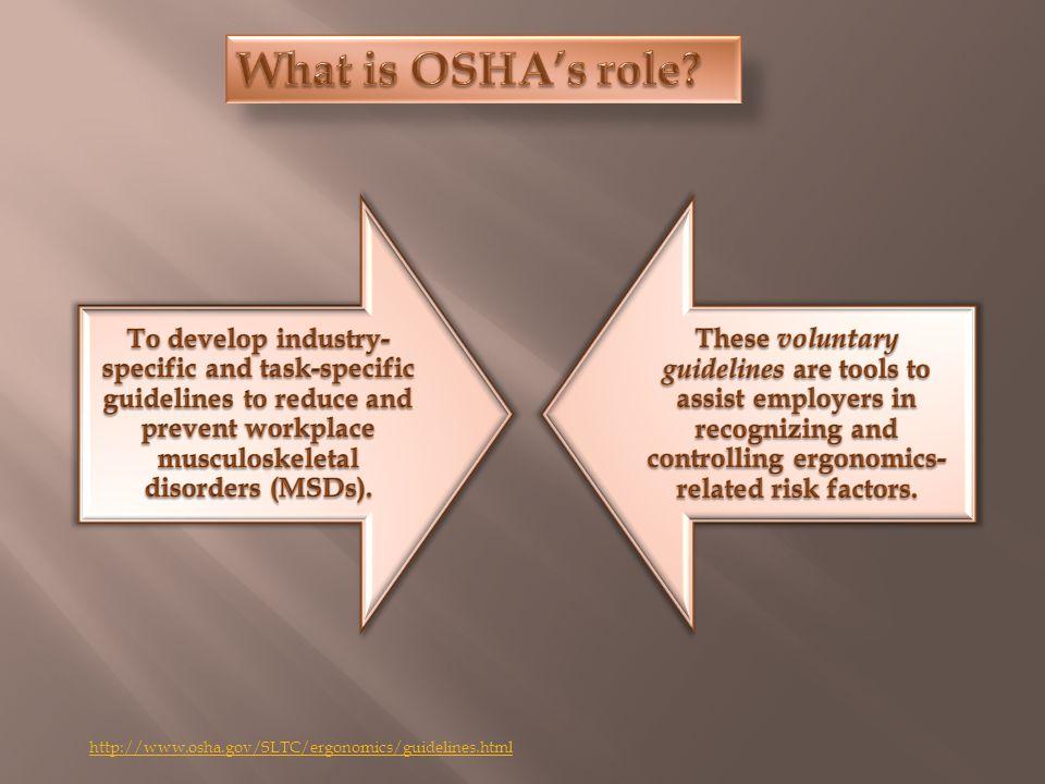 http://www.osha.gov/SLTC/ergonomics/guidelines.html