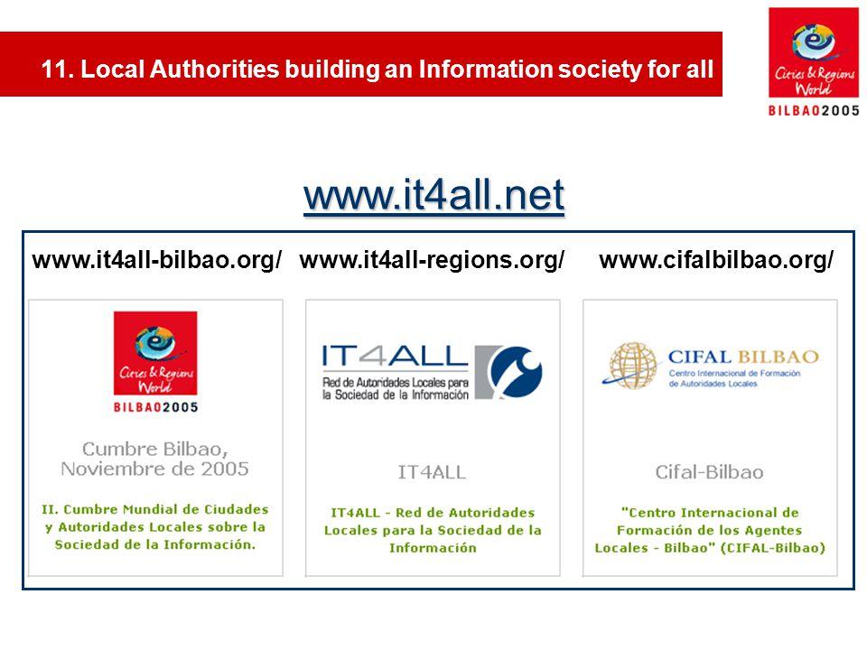 www.it4all-bilbao.org/www.it4all-regions.org/ www.cifalbilbao.org/ www.it4all.net 11.