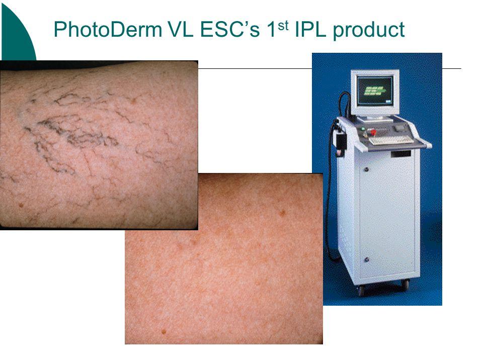 PhotoDerm VL ESC's 1 st IPL product PB 000-7005 9/97