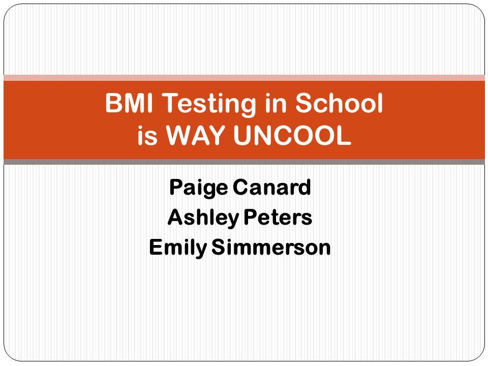 BMI in School Is Way Uncool!