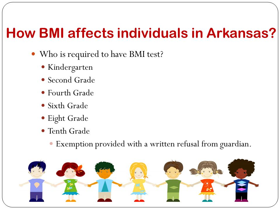 Why is BMI used in schools.