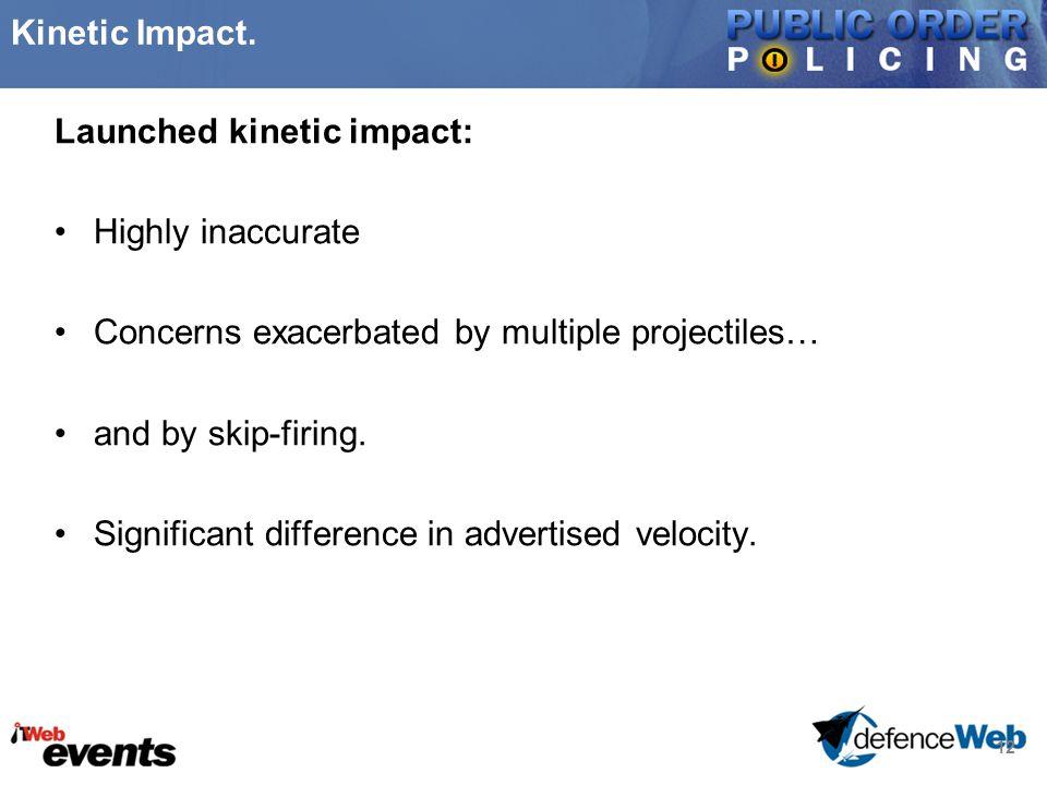 12 Kinetic Impact.
