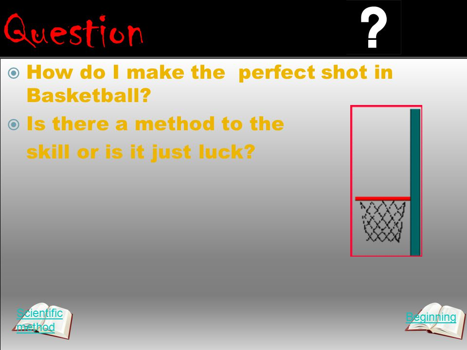 Question  How do I make the perfect shot in Basketball.