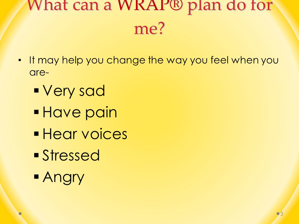 What can a WRAP® plan do for me.