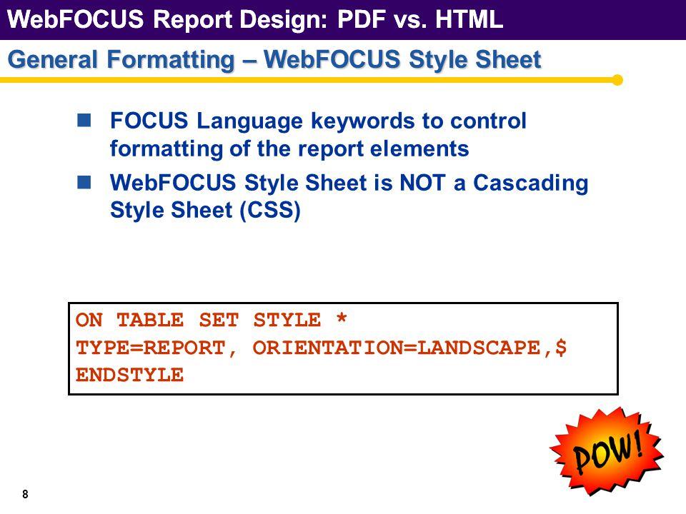 WebFOCUS Report Design: PDF vs. HTML GRIDs and BORDERs