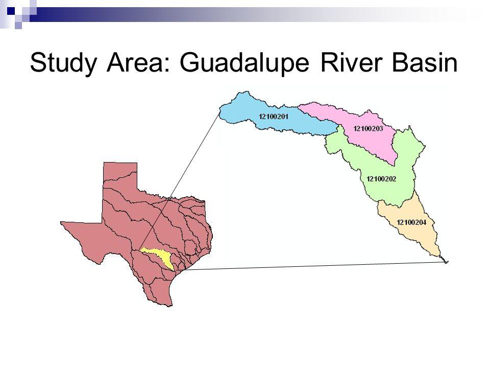 Study Area: Guadalupe River Basin
