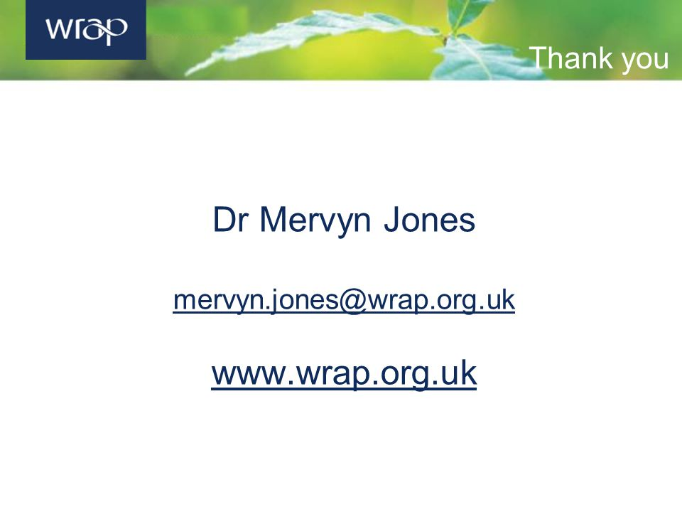 Thank you Dr Mervyn Jones