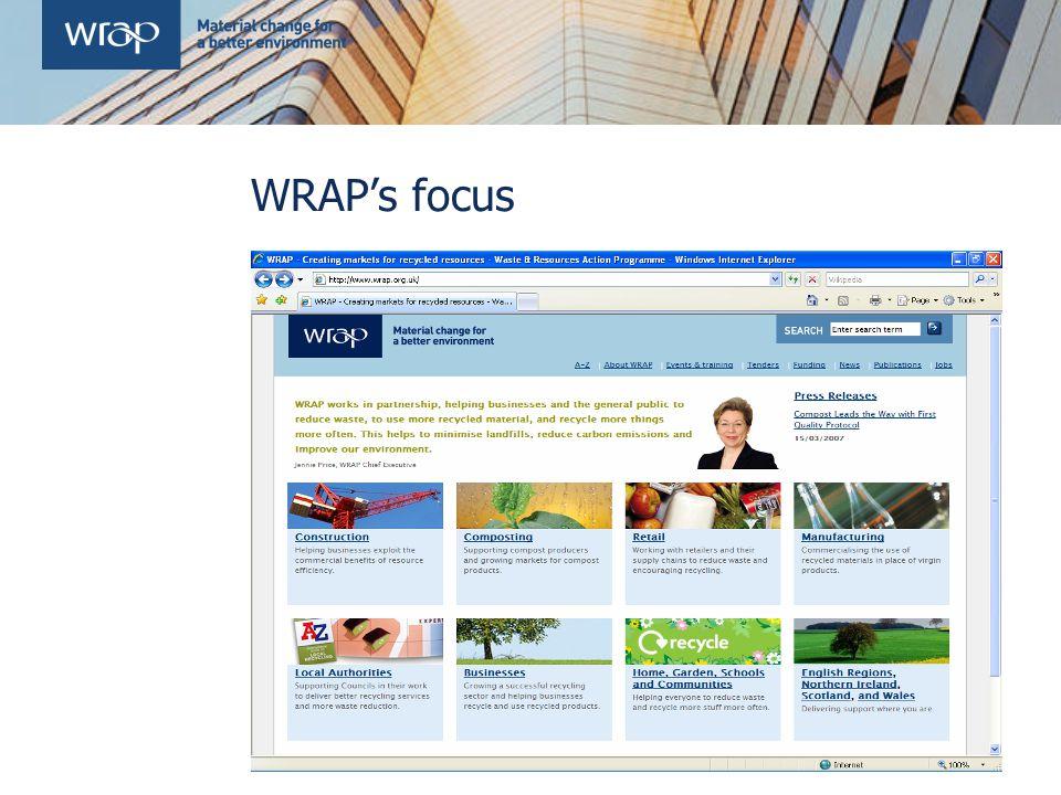 WRAP's focus