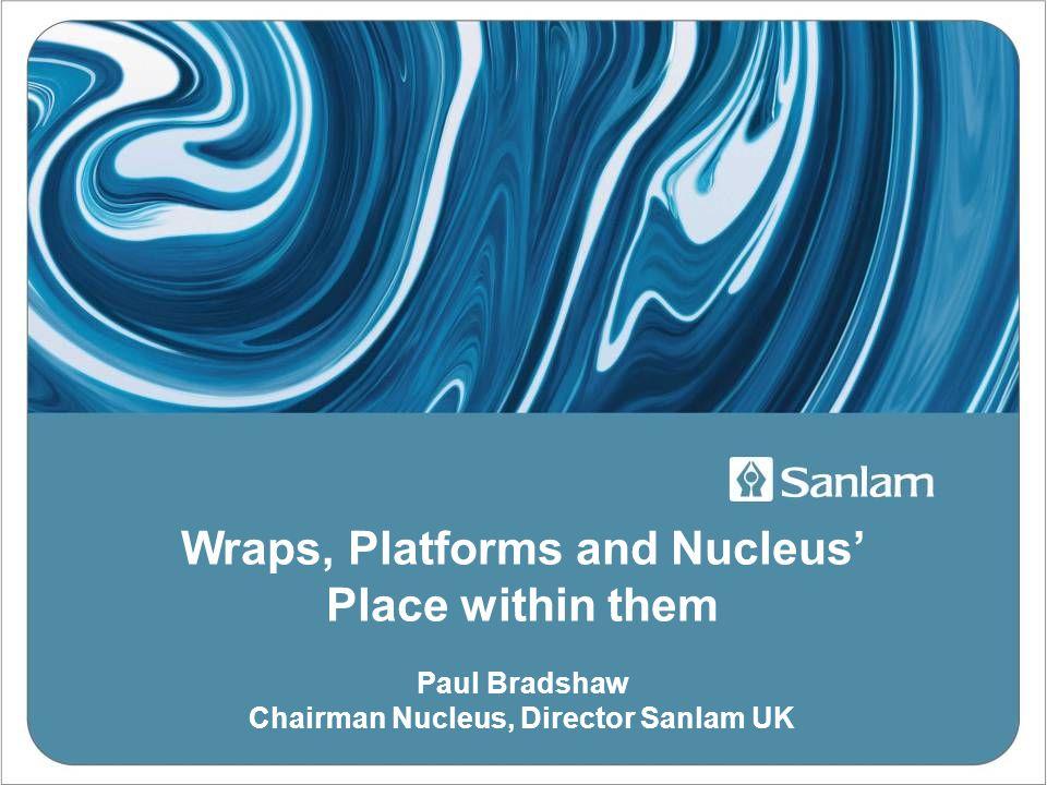 Wraps, Platforms and Nucleus' Place within them Paul Bradshaw Chairman Nucleus, Director Sanlam UK