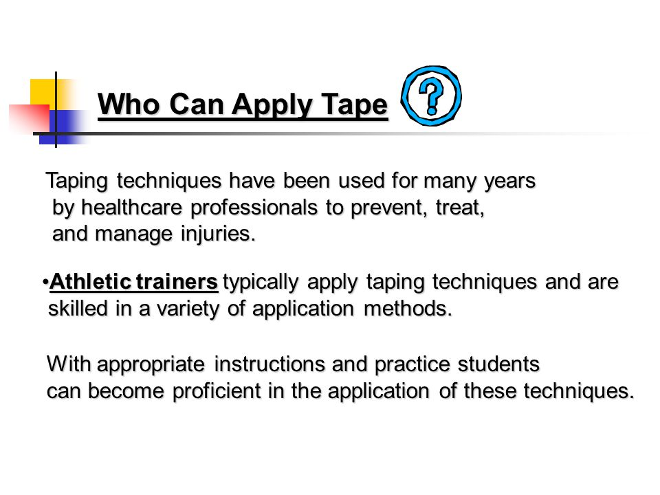 Preventative Taping For Athletic Injuries Intro to Athletic Training Students By: Manny Moore