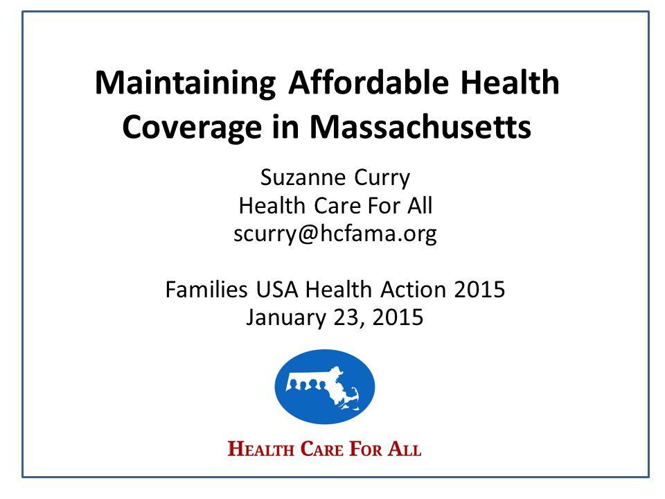 Massachusetts Health Reform 2006 2