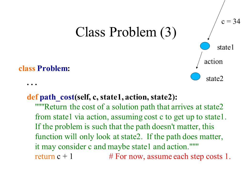 Class Problem (3) class Problem:...