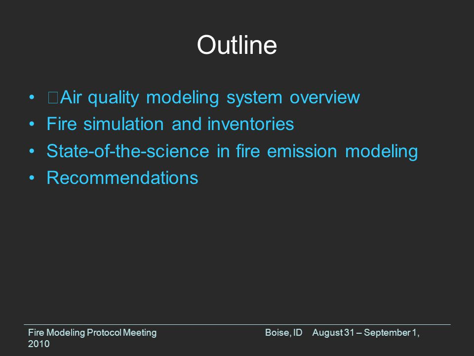 Fire Emissions Modeling Vertical allocation results SB = SMOKE/Briggs, WF = Air Sciences Fire Modeling Protocol MeetingBoise, IDAugust 31 – September 1, 2010