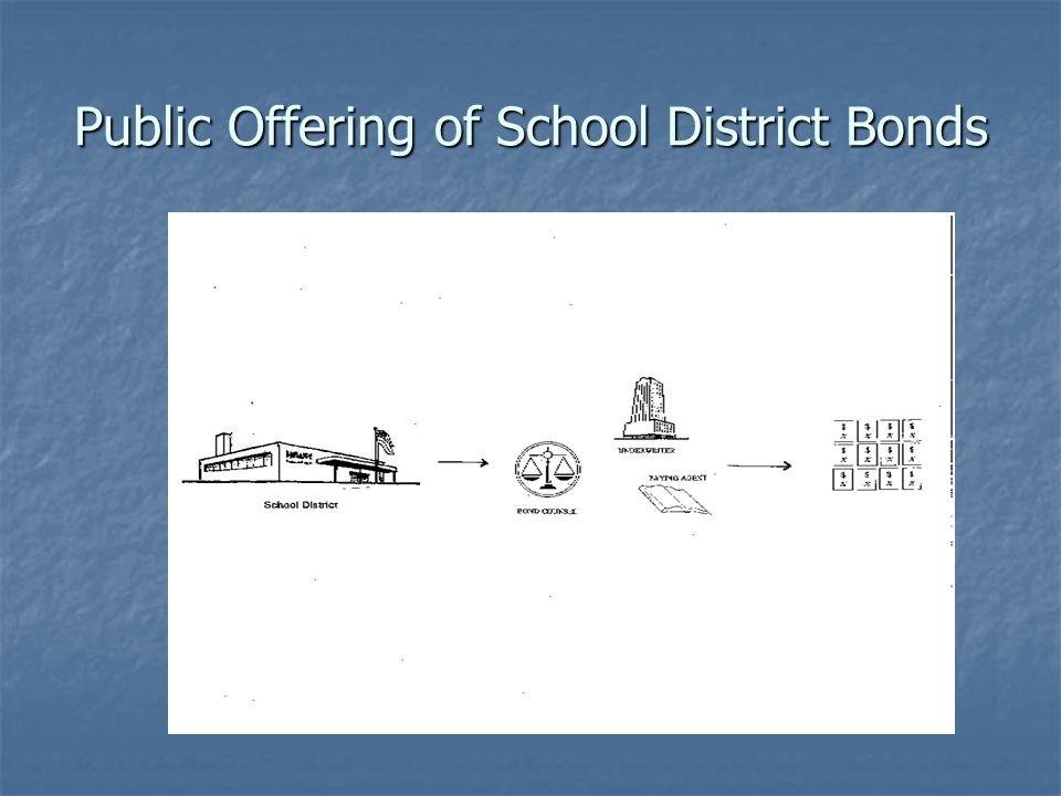 Public Offering of School District Bonds