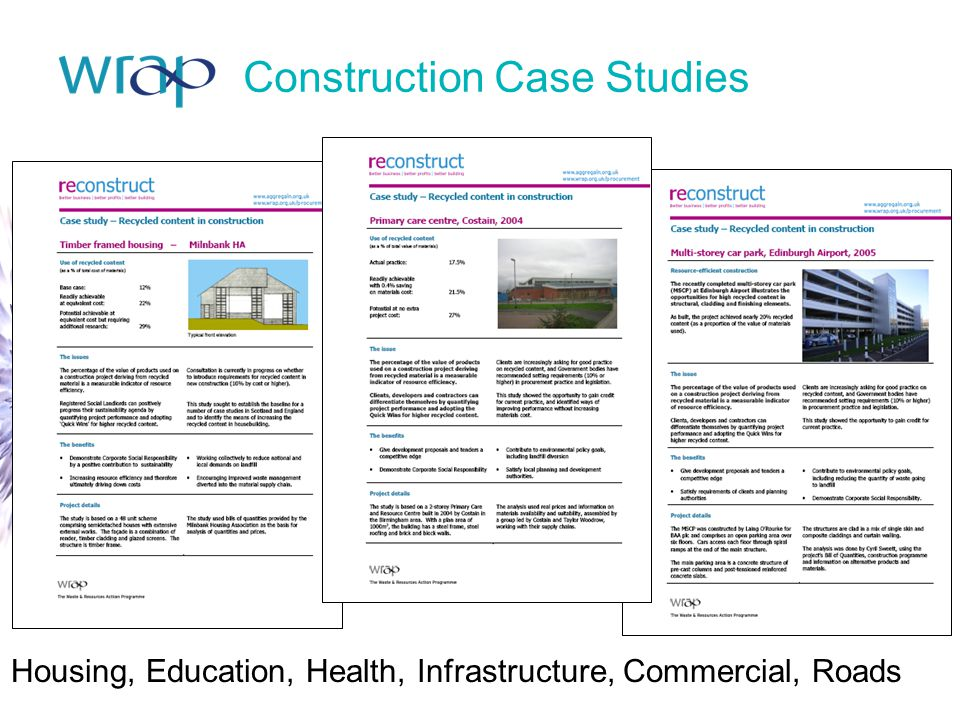 Construction Case Studies Housing, Education, Health, Infrastructure, Commercial, Roads
