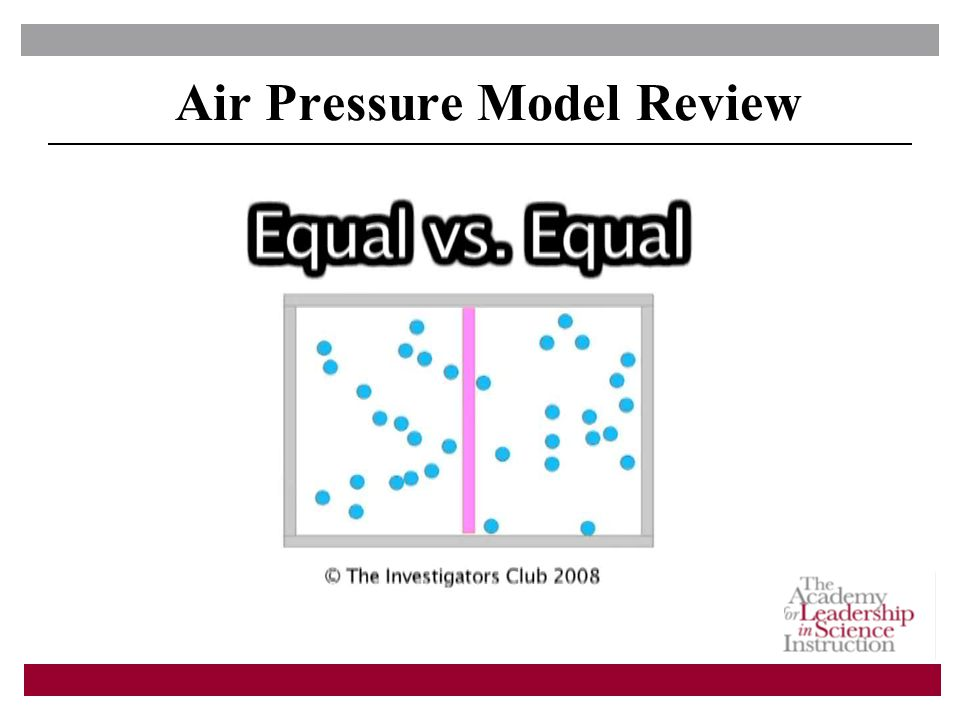 Air Pressure Model Review