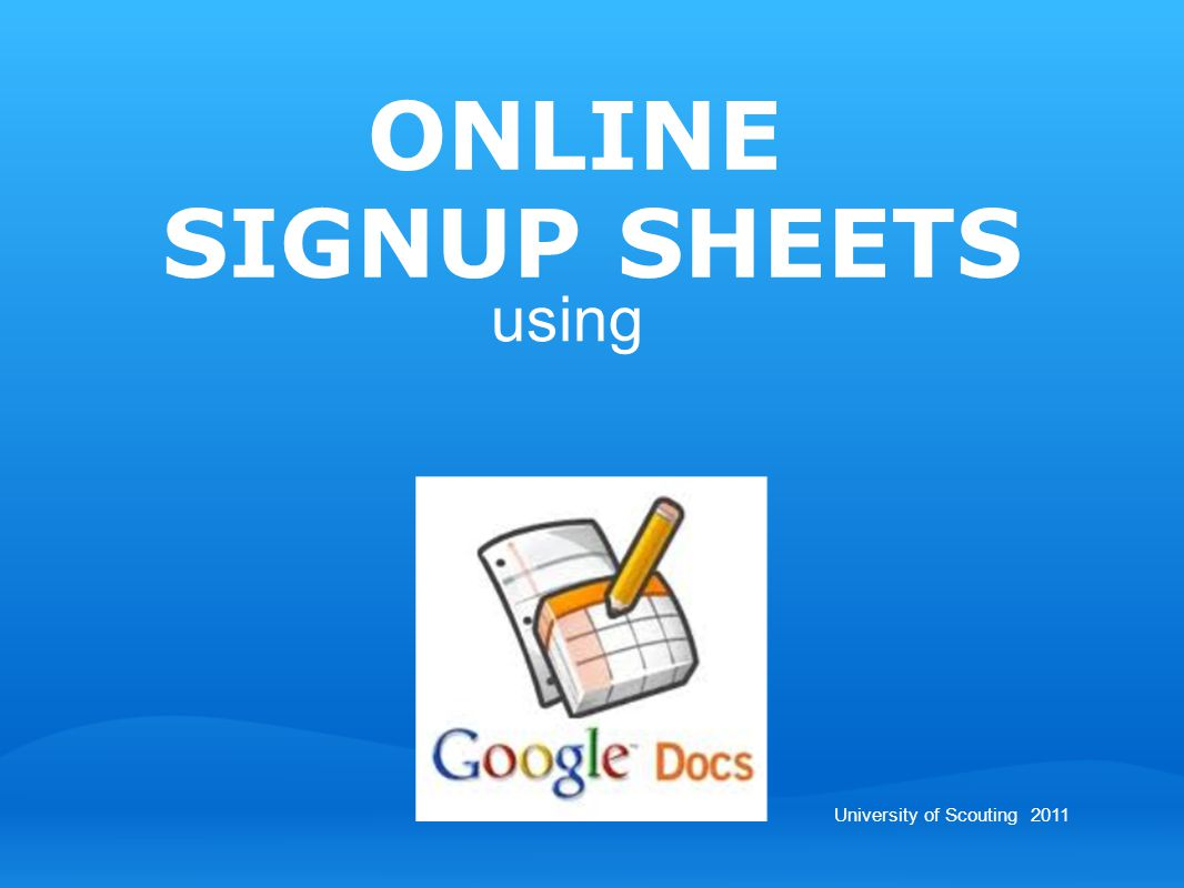 - intro - Google Docs - collaboration - sign-up sheet - live demo - wrap-up - help.
