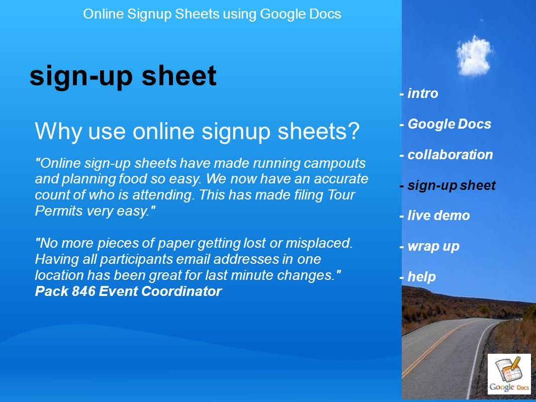 Why use online signup sheets?