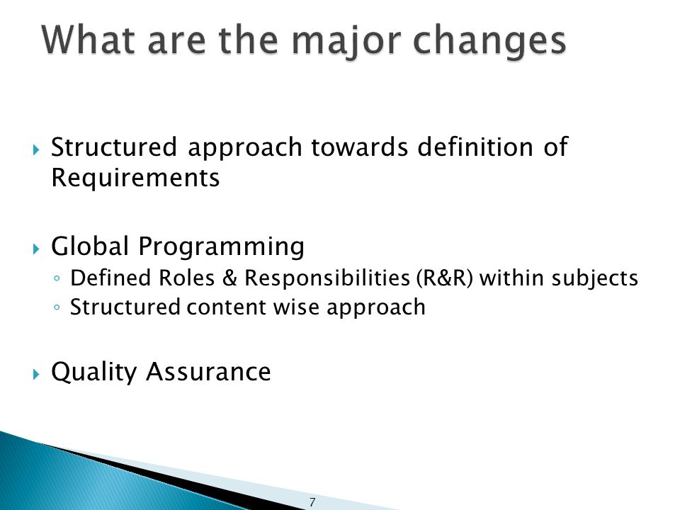 8 Why the Change in E&T Policy What are the major changes.