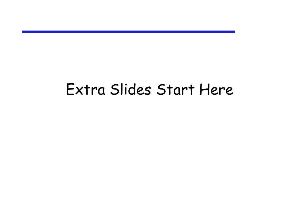 Extra Slides Start Here