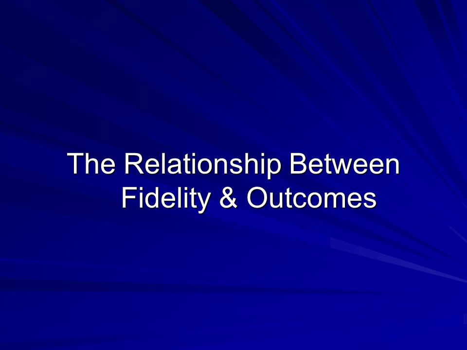 Previous research has found an association between greater Wraparound fidelity and better child and family outcomes (Bruns, 2004), but the relationship has not been clearly understood EMQ (2005) completed a study to further understand the relationship between fidelity to the 11 core elements of Wraparound and treatment outcomes