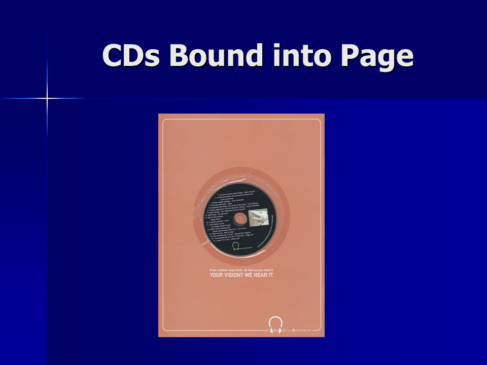 CDs Bound into Page