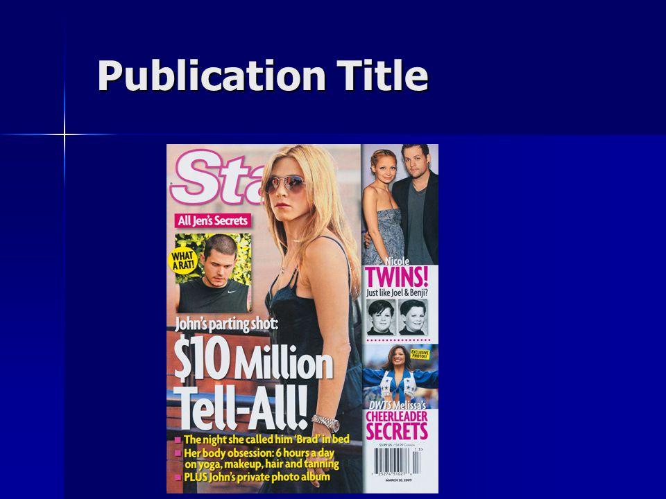 Publication Title Publication Title