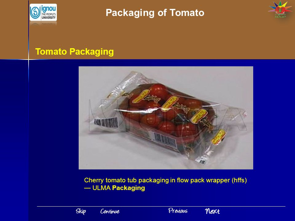 Tomato Packaging Cherry tomato tub packaging in flow pack wrapper (hffs) — ULMA Packaging Packaging of Tomato