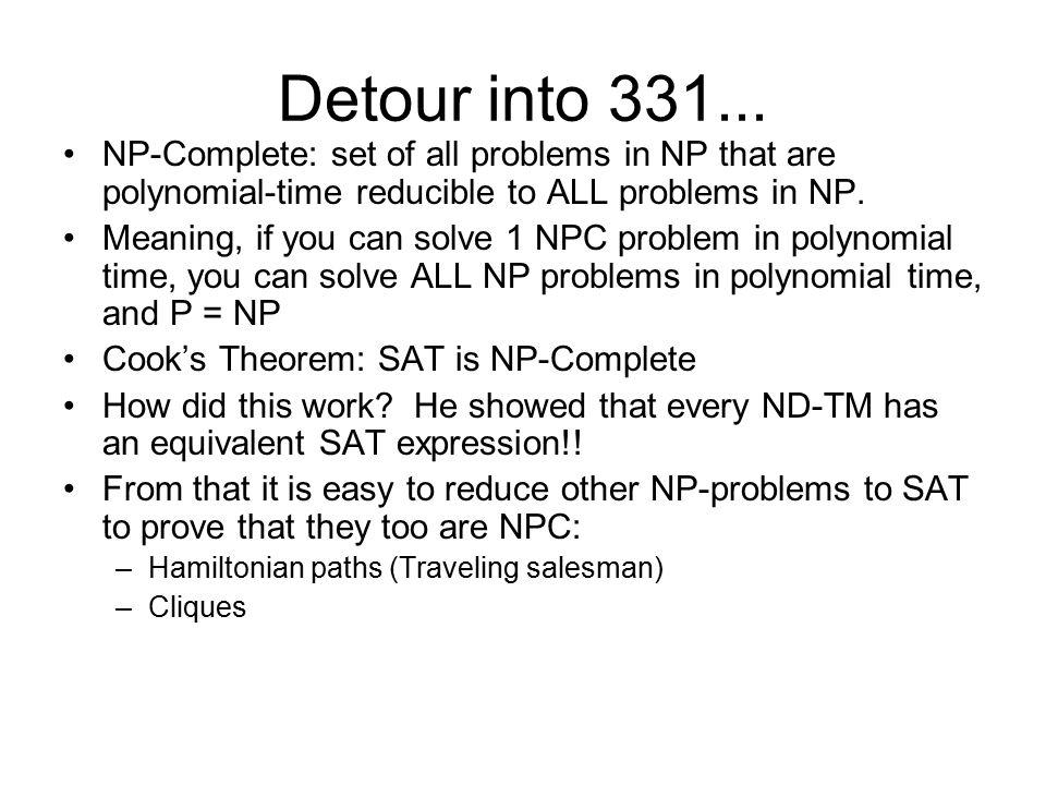 Detour into 331...