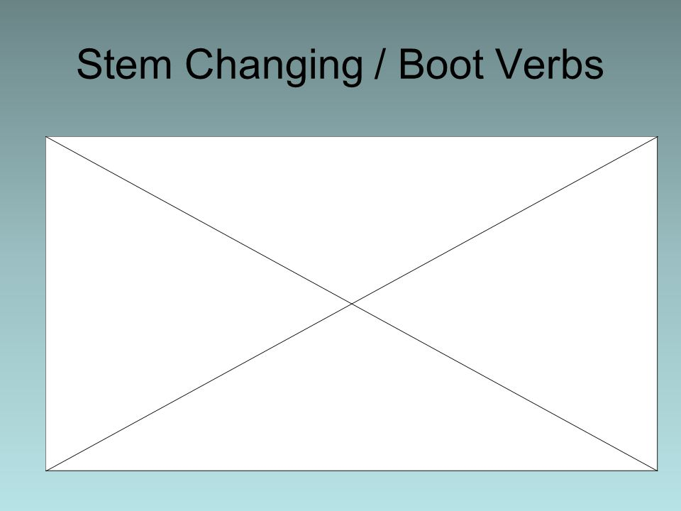 Stem Changing / Boot Verbs