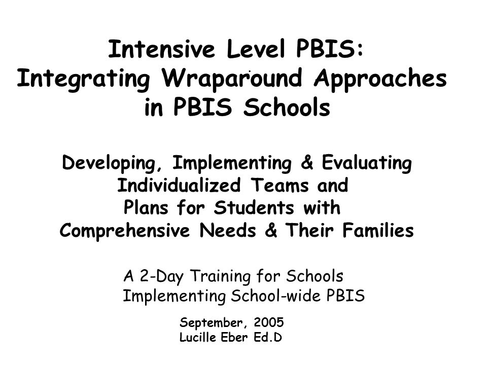Second Phase of Wraparound: Initial Plan Development Benefits & Enhancements Gathers child & family input from a variety of sources Rates your practice across operational values Ties to results rather than just process What are yours.