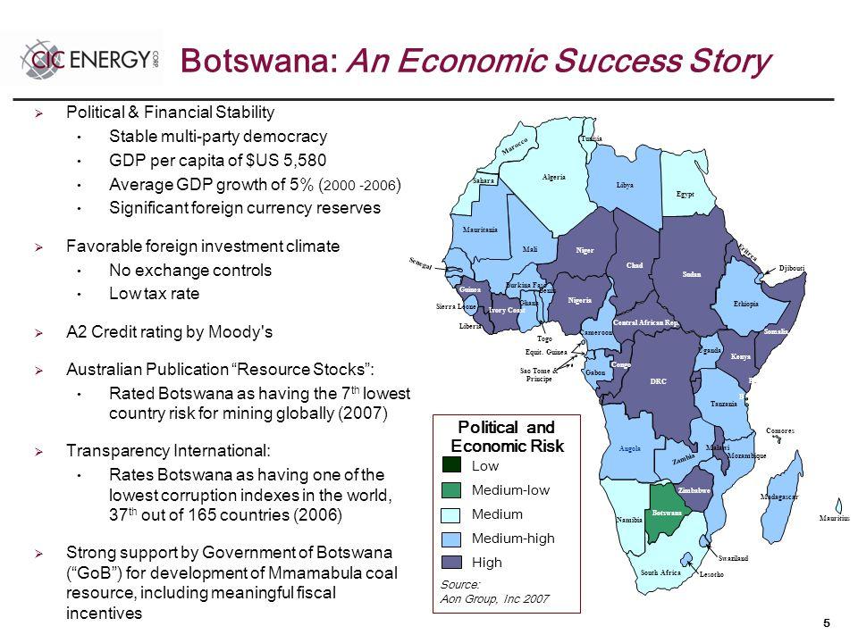 5 Botswana: An Economic Success Story Libya Algeria Marocco Niger Mali Mauritania Ivory Coast Guinea Senegal Sierra Leone Burkina Faso Equit.
