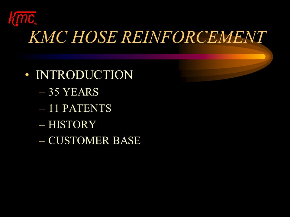 MACHINES FOR HOSE REINFORCEMENT KNITTING MACHINERY CORP. PROVIDING A GLOBAL INDUSTRY