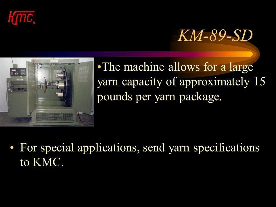 """KM-89-SD Knitting heads come in sizes of 2.5"""", 3.5"""" and 5"""". The knitting heads can quickly be removed and interchanged with other knitting heads of va"""