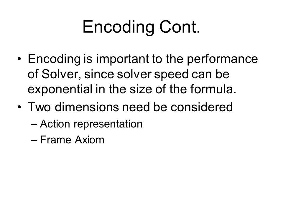 Encoding Cont.