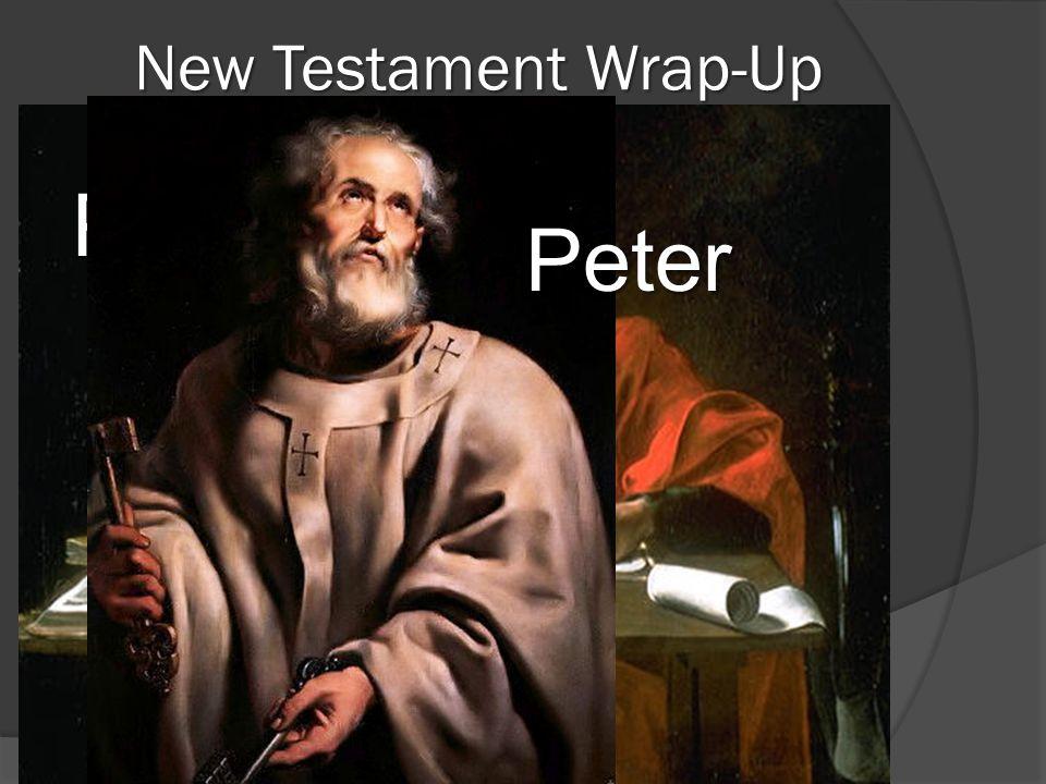 New Testament Wrap-Up Author Summary Apostles Matthew John Paul Peter